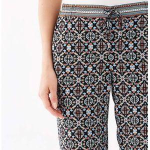 J. Jill Printed Pattern Easy Pants